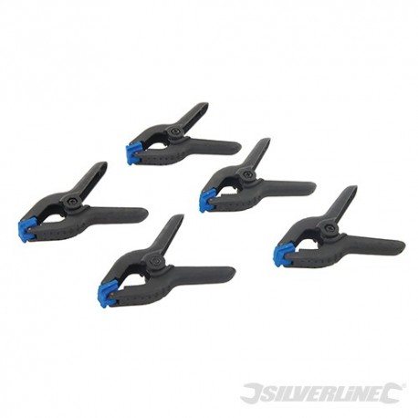 Spring Clamps 5pk - 100mm Length / 40mm Jaw