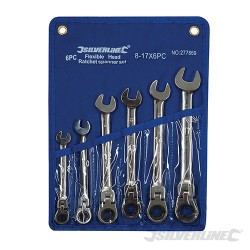 Flexible Head Ratchet Spanner Set 6pce - 8 - 17mm