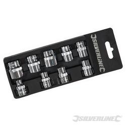 "Socket Set 3/8"" Drive 6pt Metric 9pce - 8 - 19mm"