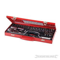 "Socket Wrench Set 1/2"" Drive Metric/AF 42pce - 42pce"