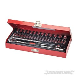 "Socket Wrench Set 1/4"" Drive Metric 38pce - 38pce"