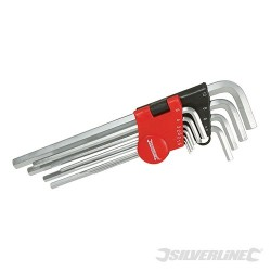 Hex Key Metric Expert Set 10pce - 1.5 - 10mm