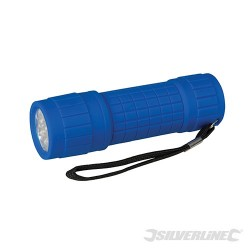 LED Soft-Grip Torch - 9 LED