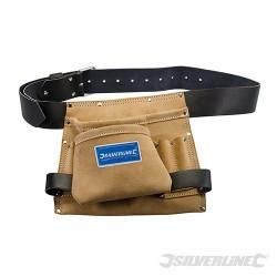 Leather Nail & Tool Bag 8 Pocket - 260 x 230mm