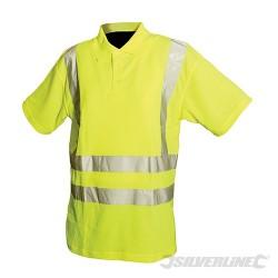 "Hi-Vis Polo Shirt Class 2 - M 92-100cm (36-39"")"