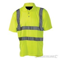 """Hi-Vis Polo Shirt Class 2 - L 100-108cm (39-42"""")"""
