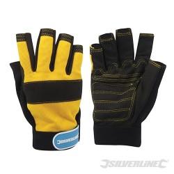 Fingerless Mechanics Gloves - Medium