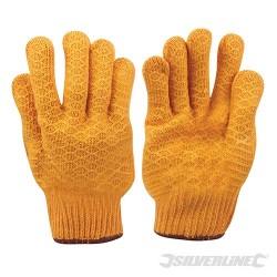 Yellow Gripper Gloves - L 10