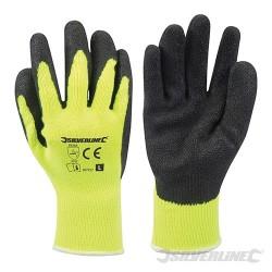 Hi-Vis Builders Gloves Yellow - L 10