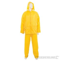 "Rain Suit Yellow 2pce - L 32""W (56 - 116cm)"