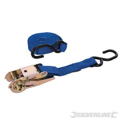 Ratchet Tie Down Strap S-Hook 4.5m x 25mm - Rated 150kg Capacity 375kg