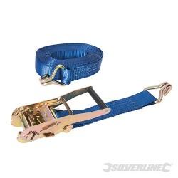 Ratchet Tie Down Strap J-Hook - 8m x 50mm - Rated 2500kg Capacity 5000kg
