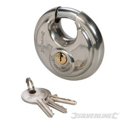Stainless Steel Disc Padlock - 70mm