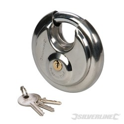 Stainless Steel Disc Padlock - 90mm