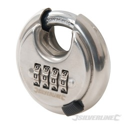 Stainless Steel Combination Disc Padlock 4-Digit - 70mm
