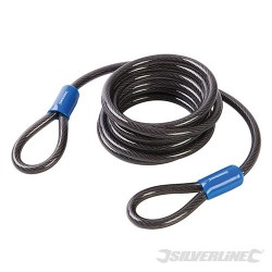 Looped Steel Security Cable - 2.5m x 8mm