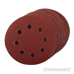 Hook & Loop Discs Punched 115mm 10pk - 115mm 80 Grit