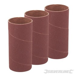 114mm Bobbin Sleeves 3pk - 51mm 80 Grit