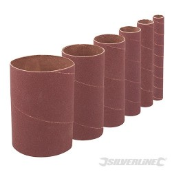 140mm Bobbin Sleeves Set 6pce - 140mm 60 Grit