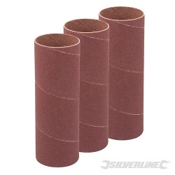 140mm Bobbin Sleeves 3pk - 38mm 60 Grit