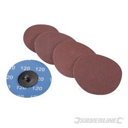 75mm Quick-Change Sanding Discs Set 5pce - 120 Grit