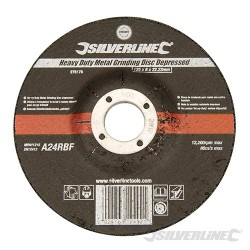 Heavy Duty Metal Grinding Disc Depressed - 125 x 6 x 22.23mm