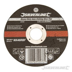 Heavy Duty Inox Slitting Disc Flat - 115 x 1.2 x 22.23mm