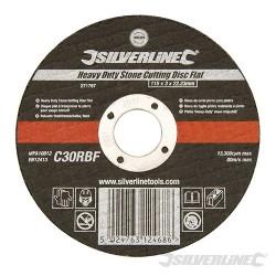 Heavy Duty Stone Cutting Disc Flat - 115 x 3 x 22.23mm