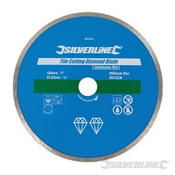 Tile Cutting Diamond Blade - 180 x 22.23mm Continuous Rim