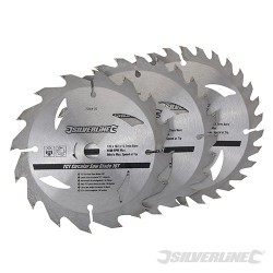 TCT Circular Saw Blades 16, 24, 30T 3pk - 135 x 12.7 - 10mm Ring