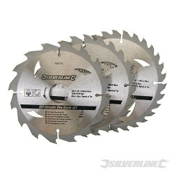 TCT Circular Saw Blades 16, 24, 30T 3pk - 160 x 30 - 20, 16, 10mm Rings