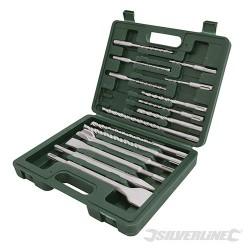 SDS Plus Masonry Drill & Steel Set 15pce - 15pce