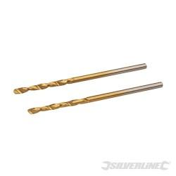 HSS Titanium-Coated Drill Bits 2pk - 2.0mm