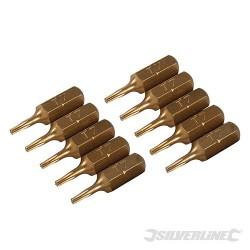 T7 Gold Screwdriver Bits 10pk - T7