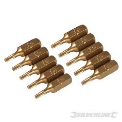 T9 Gold Screwdriver Bits 10pk - T9