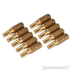 T27 Gold Screwdriver Bits 10pk - T27