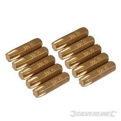 T40 Gold Screwdriver Bits 10pk - T40