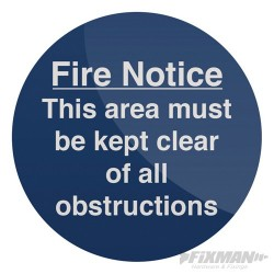 This Area Must Be Kept Clear Sign - 150 x 150mm