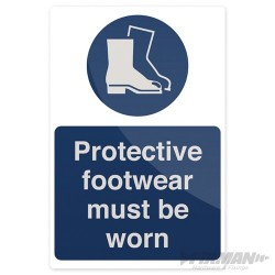 Protective Footwear Must Be Worn Sign - 200 x 300mm Rigid