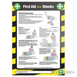 Electric Shock Sign - 590 x 420mm Laminated