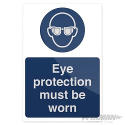 Eye Protection Must Be Worn Sign - 200 x 300mm Rigid