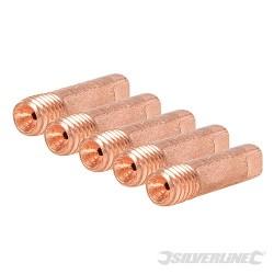 MIG Welder Contact Tips M6 5pk - 0.8mm