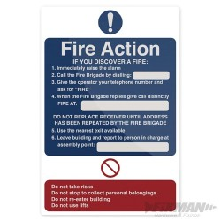 Fire Action If You Discover Sign - 200 x 300mm Rigid