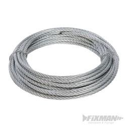 Galvanised Wire Rope - 4mm x 10m