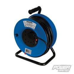 Cable Reel 230V Freestanding - 4-Gang 50m