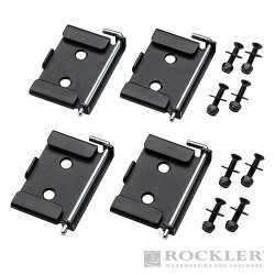 """Quick-Release Workbench Caster Plates 4pk - 2-3/4 x 3-3/4"""""""