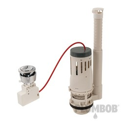 Adjustable Push-Button Toilet Flush Valve - Dual Function