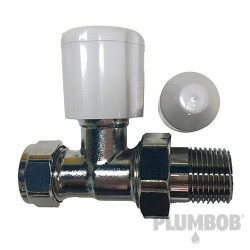 Chrome-Plated Inline Radiator Valve - 15mm