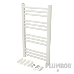 White Flat Towel Radiator - 700 x 400mm