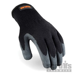 Utility Latex-Coated Gloves Black - L